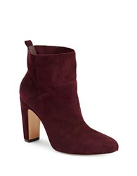 Rachel Zoe Elizabeth Leather Booties Burgundy