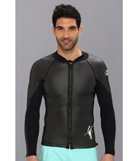 Toes On The Nose Barrier Wetsuit Top Black Men's Swimwear
