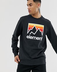 Element Sweatshirt With Large Chest Logo In Black