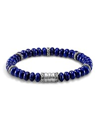 John Hardy Men's Sterling Silver Bedeg Beaded Bracelet With Lapis Lazuli Blue