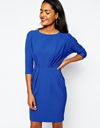 River Island Key Hole Pencil Dress Blue