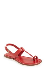 Bernardo Women's Maverick Leather Sandal Red Calf