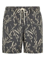 Selected Homme Black Printed Swim Shorts
