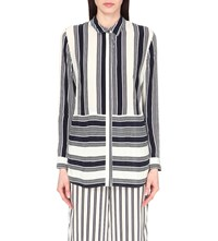 Whistles Cut About Striped Woven Shirt Multi Coloured