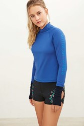 Without Walls Cropped Long Sleeve Top Blue