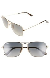Men's Ray Ban 'Caravan' 58Mm Aviator Sunglasses Gold Grey Gradient