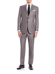 Giorgio Armani Wall Street Wool And Cashmere Suit Grey