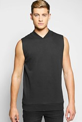 Boohoo Neck Sleeveless Sweater Black
