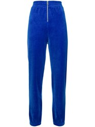 Juicy Couture Velvet Track Pants Blue
