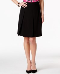 Nine West A Line Pleated Skirt Black
