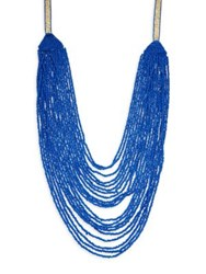 Design Lab Lord And Taylor Long Beaded Necklace Blue