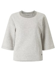 Numph Njala Textured Sweatshirt Light Grey Melange