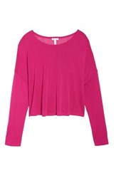 Leith Lightweight Pullover Sweater Pink Berry
