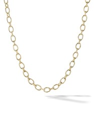 David Yurman 18Kt Yellow Gold Oval Chain Necklace 88