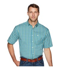 Cinch Athletic Plaid Short Sleeve Multicolored Short Sleeve Button Up