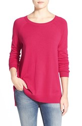 Women's Caslon Raglan Crewneck Sweater Pink Bright