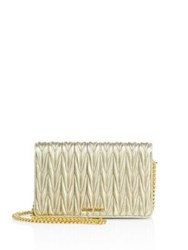 Miu Miu Matelasse Leather Chain Wallet