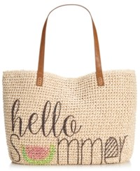 Styleandco. Style And Co. Summer Straw Tote Only At Macy's