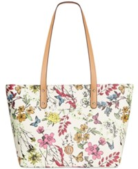 Giani Bernini Floral Tote Only At Macy's Cream