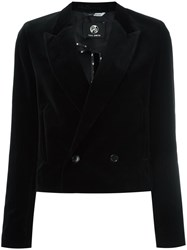 Paul Smith Ps By Cropped Velvet Blazer Black