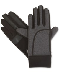 Isotoner Signature Sport St Heathered Gloves Black Charcoal