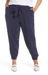 Caslon Plus Size Soft Track Pants Navy Peacoat