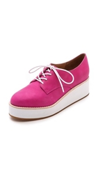 Jeffrey Campbell Garan Platform Oxfords Fuchsia