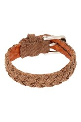 John Varvatos Braided Fabric Cuff Bracelet Brown