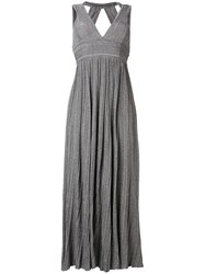 Antonino Valenti V Neck Knitted Long Dress Grey