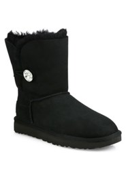 Ugg Classic Bailey Short Button Boots Black