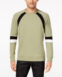 Inc International Concepts Men's Colorblocked Sweatshirt Created For Macy's Gossamer Green