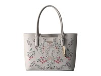 Calvin Klein Perforated Novelty Leather Tote White Tote Handbags