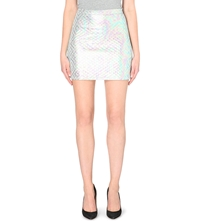 Jaded London Metallic Quilted Skirt Multi Coloured