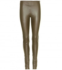 Balenciaga Leather Leggings Green