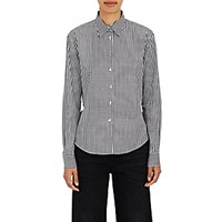 Jourden Women's Gingham Cotton Ruffled Back Shirt Blue
