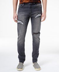 Jaywalker Men's Rip And Repair Ripped Jeans Only At Macys Charcoal