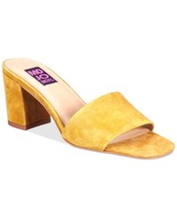 Mojo Moxy Ceci Block Heel Mules Women's Shoes Yellow