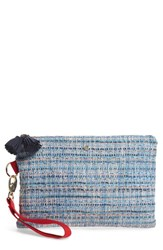 Tommy Bahama Mylos Woven Clutch Blue Ice Blue