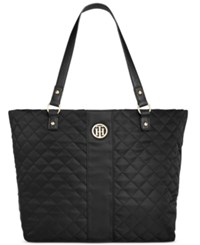 Tommy Hilfiger Isla Quilted Tote Black