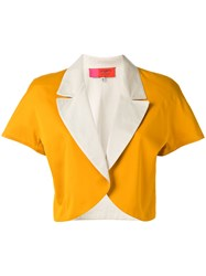 Emanuel Ungaro Vintage Colour Block Bolero Jacket Yellow Orange