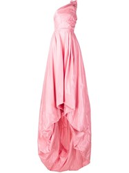 Monse One Shoulder Gown Pink And Purple
