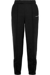 Alexander Wang T By French Cotton Blend Terry Track Pants Black