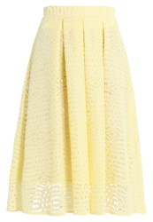 Dorothy Perkins Lace Full Aline Skirt Yellow