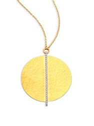 Gurhan Lush Diamond Large 24K Yellow Gold Pendant Necklace