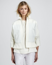 Halston Heritage Relaxed Leather Jacket
