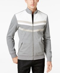 Inc International Concepts Men's Faith And Fear Full Zip Stand Collar Jacket Only At Macy's Heather Grey