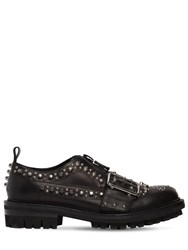 Dsquared Studs Leather Lace Up Shoes Black