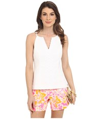 Lilly Pulitzer Magnolia Top Resort White Women's Sleeveless