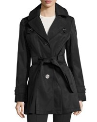 Via Spiga Water Resistant Belted Trench Coat Black