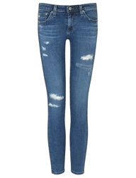 Ag Jeans 12 Years Destroyed Ankle Jeans Blue